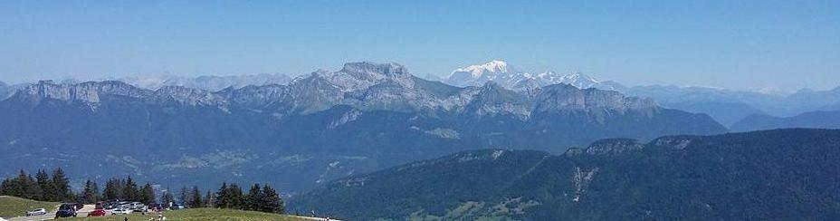 Vue sur le Mont Blanc depuis le Semnoz