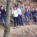 Le groupe dans la montée