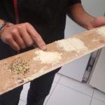 Différentes sortes de farines dans la boulangerie