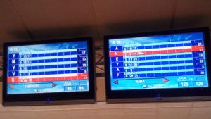 Première partie de bowling