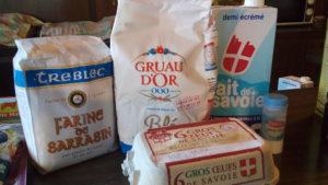 La farine de sarrasin pour les galettes...