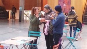 Nathalie et Koji rencontrent une dame très sympathique