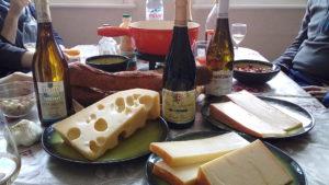 Les ingrédients pour la fondue